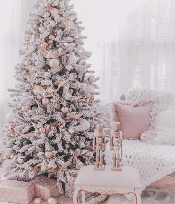 Couture Rose Gold & Blush Christmas Tree Decoration Details