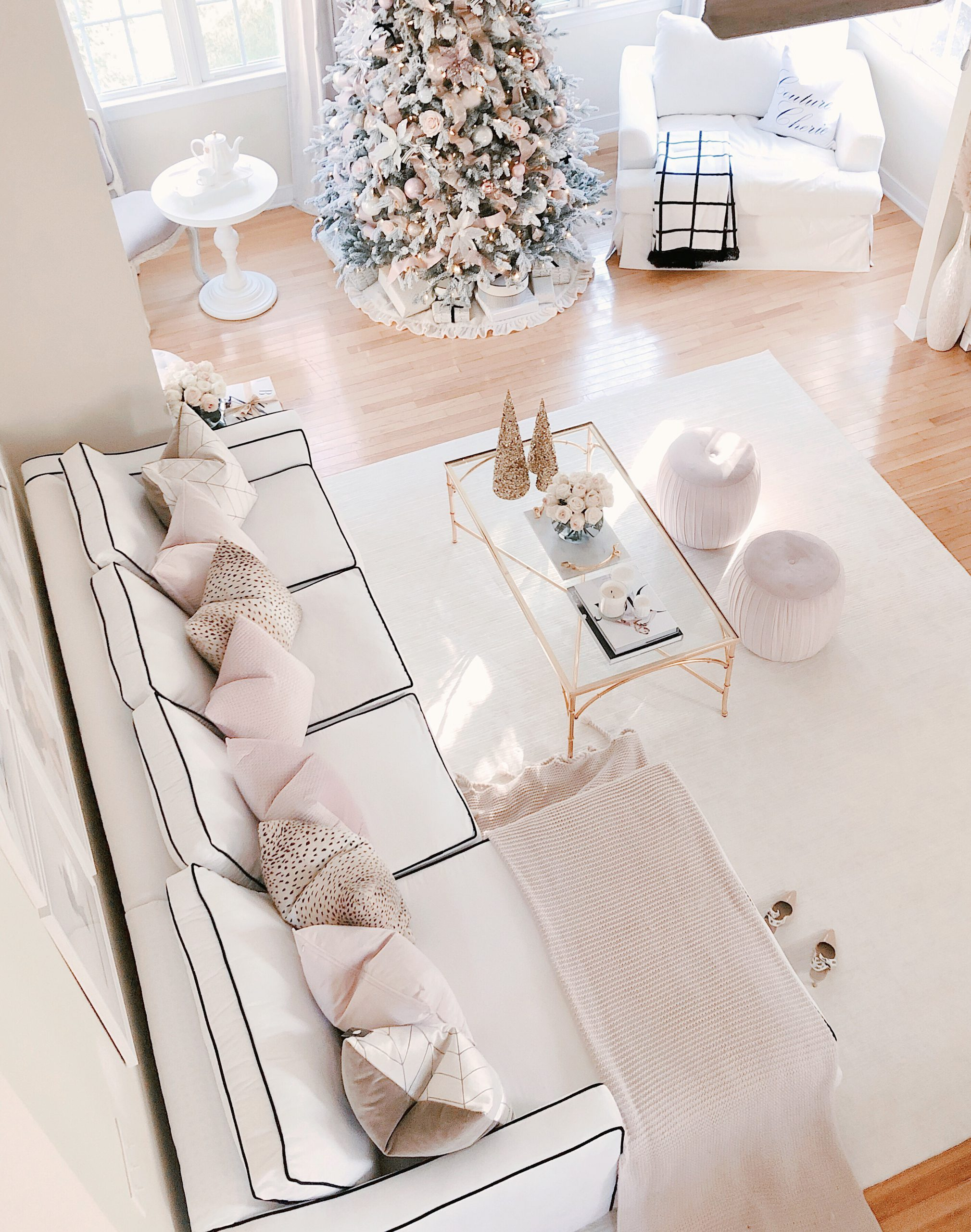 Chanel & Glam Inspired living room makeover